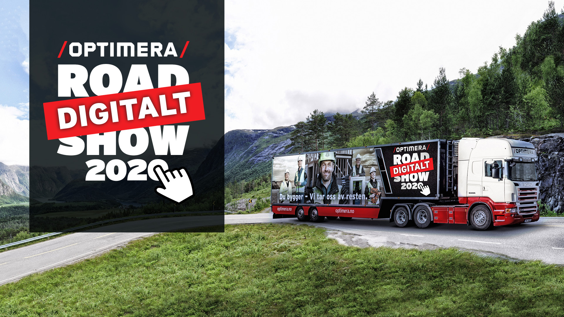 Hero-bilde av Optimera Roadshow-trailer